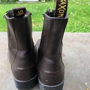 Saxon Shoes - Saxon Leather Zip Up Ankle Boots 🍁🍂🍁